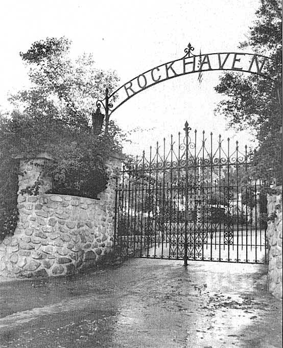 Rockhaven gates. (Courtesy, Friends of Rockhaven)