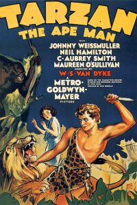 Film poster, TARZAN THE APE MAN, starring Johnny Weismuller (1932).